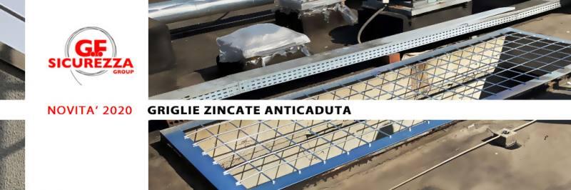 griglie zincate anticaduta per lucernari
