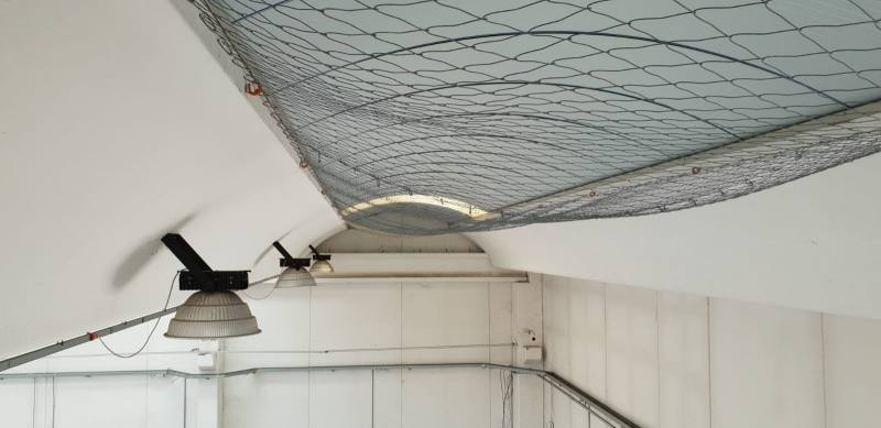 rete anticaduta lucernario